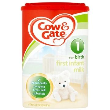 英国Cow&Gate牛栏婴幼儿配方奶粉1段(0-6个月宝宝900g)新旧包装随机发货*2
