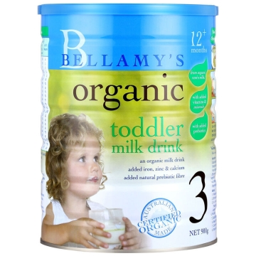 澳洲 Bellamys贝拉米有机婴儿奶粉3段 900g*2