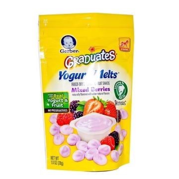 【海外直采 国内现货包邮】GERBER/嘉宝 混合水果味酸奶溶溶豆 28g*3