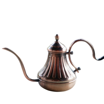古铜色咖啡手冲壶450ml 不锈钢宫廷壶 滴漏咖啡细口壶 咖啡器具