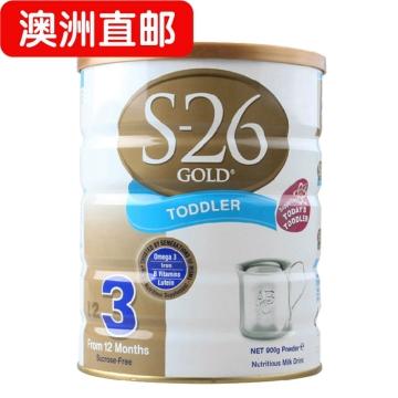【澳洲直邮】澳洲惠氏S26 婴幼儿惠氏金装奶粉3段 900g*3