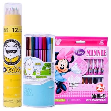 真彩D201624油画棒+真彩CWP-2600-36水彩笔+真彩CK-036-1212色彩铅笔
