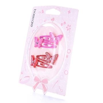 basicare 带镶钻蝴蝶的水滴夹(3545) 4个装 配饰系列